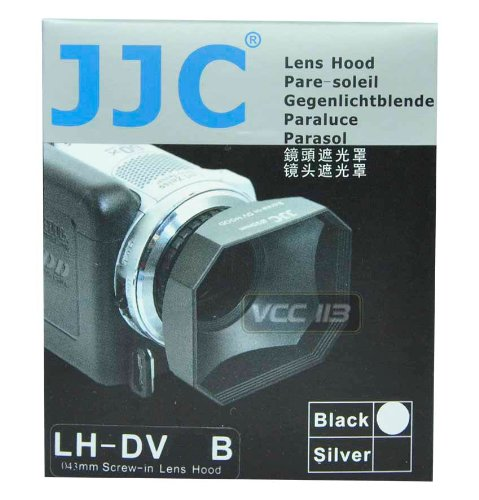 (JJC 37mm Screw-in DV Camcorder Square Lens Hood with Cap and Strap LH-DV37B FOR DV)
