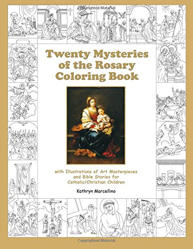 Twenty Mysteries Rosary Coloring Book product image