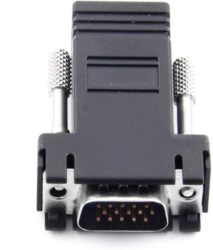 Occus VGA Extender Male to LAN Cat5 Cat5e//6 RJ45 Ethernet Female Converter Adapter Cable Length: 5cm