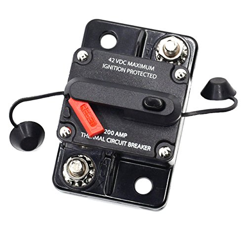 200a Circuit Breaker (Cllena 200 Amp Circuit Breaker for Car Truck Rv ATV Marine Boat Vehicles / electronic systems)