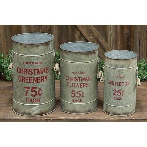 Heart of America Tree Farm Buckets - Set of 3
