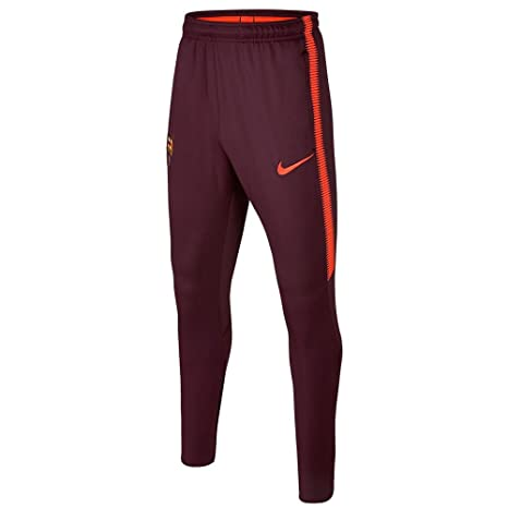 980050236 Nike Youth Dry FC Barcelona Barcelona Squad Pants  Night Maroon  (S)