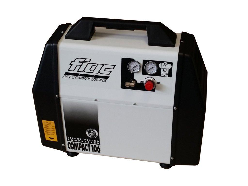 De pistón compresor de aire sin aceite Fiac Compact 106 insonorizzati 57 db: Amazon.es: Deportes y aire libre