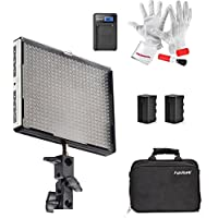 Emgreat® Aputure Amaran AL-528S 528 Led Video Light Panel Led Studio Lighting Kit with Rechargeable Batteries Pack and Pergear Clean Kit