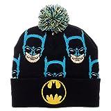 Batman Faces Cuff Pom Beanie Winter Hat