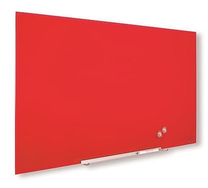 Nobo Diamond Pizarra de cristal, Magnética, 1260x711m, Rojo, 1905185