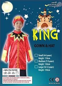 King - Disfraz de rey de navidad infantil, talla 10 (j kingR/10-12)