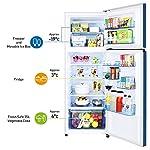Panasonic Econavi 307 L 3 Star 6-Stage Inverter Frost-Free Double Door Refrigerator (NR-BG313VDA3, Deep Ocean Blue…