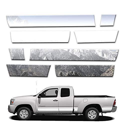 Brighter Design 10p 5 1/2' Rocker Panels fits 05-15 Toyota Tacoma Ext Cab SB