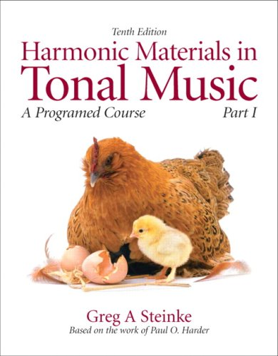 Harmonic Materials in Tonal Music: A Programmed Course, Part 1 (10th Edition) (Pt. 1)