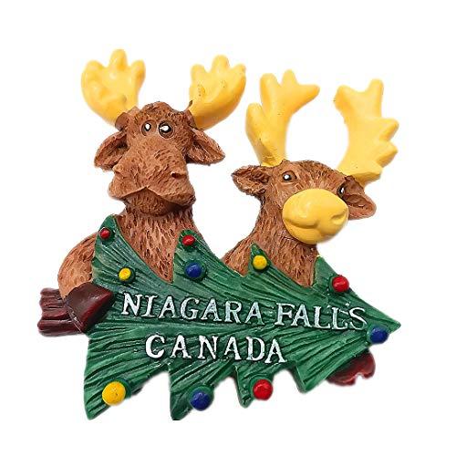 Cartoon Moose Niagara Falls Canada 3D Refrigerator Fridge Magnet Travel City Souvenir Collection Kitchen Decoration White Board Sticker Resin]()