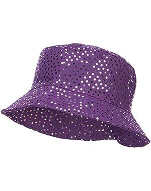 Ladies Bling Disk Bucket Hat