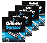 Gillette Sensor Cartridges, 5-Count (Pack of 4, 20 total cartridges)
