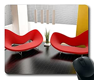 Modern Red Sofas Gaming Mouse Pad - Fashion Hot Oblong Shaped Mouse Mat Design Natural Eco Rubber / Durable Office Computer Desk Stationery Accessories Mouse Pads For Gift / Laptop Mouse pad and Pc Desktop mouse pad / Support Wired Wireless or Bluetooth Mouse by runtopwell