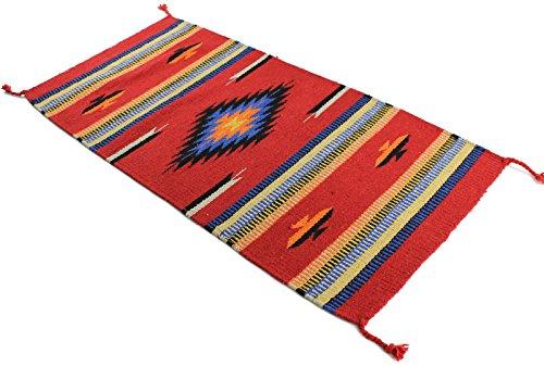 (Onyx Arrow Southwest Décor Area Rug, 20 x 40 Inches, Center Diamond Red/Orange)
