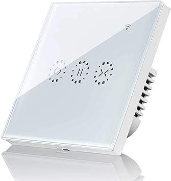 Motor Tubular para Motor Persiana Motor de Obturador Control de APP y Funci/ón de Temporizador Maxcio Interruptor Pared WiFi Compatible con Alexa y Google Home Interruptor Persiana WiFi