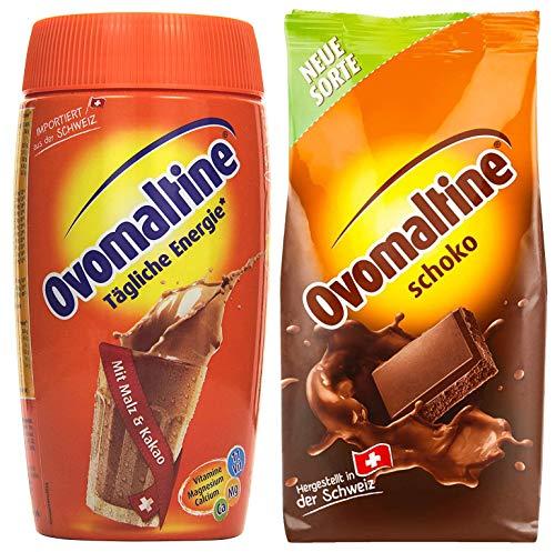 Proefverpakking Ovomaltinepoeder 2-pack, 450 g chocoladepoeder, 500 g blikje Cassic-poeder