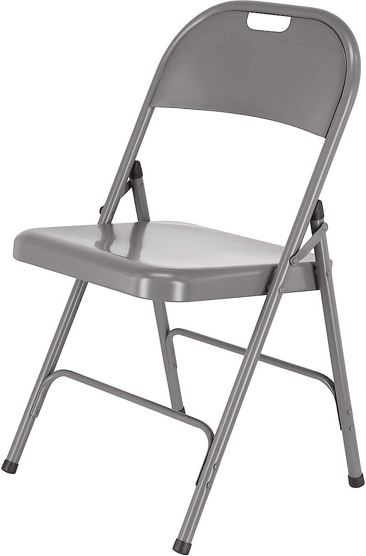 Clas Ohlson /® Folding Chair Metal Desk Chairs Seating Events Grey Size 78 cm x 46.5 cm x 45 cm Easy Store Office