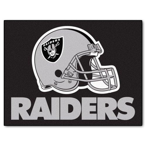 - FANMATS NFL Oakland Raiders Nylon Face All-Star Rug