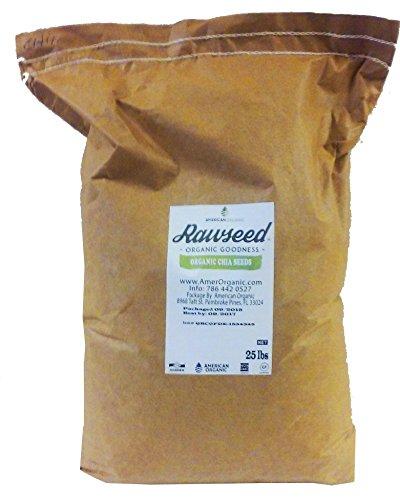 Organic Chia Seeds 25 Lbs by Rawseed