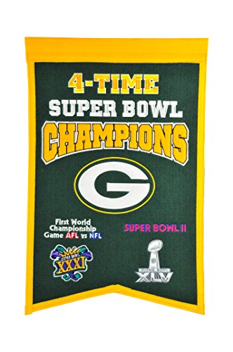 (NFL Green Bay Packers Super Bowl Champions Banner)