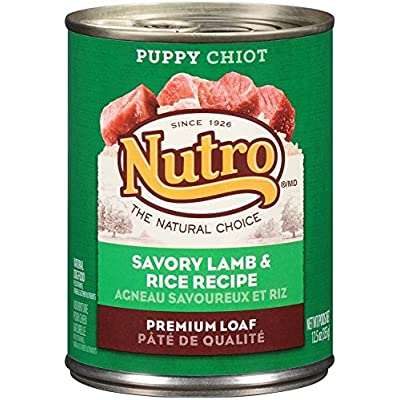 Nutro 50411569 Savory Lamb & Rice Recipe Can Puppy Food, 12 Ea/12.5Oz