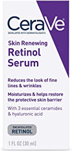 CeraVe Anti Aging Retinol Serum   1 Ounce   Cream Serum for Smoothing Fine Lines and Skin Brightening   Fragrance Free