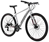 "Diamondback Bicycles 2016 Trace Complete Dual Sport Bike, 20""/Large, Bright Silver"