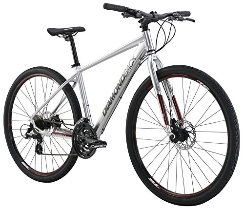 "791964501602 - Diamondback Bicycles 2016 Trace Complete Dual Sport Bike, 22""/X-Large, Bright Silver carousel main 0"