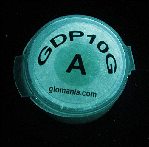 Glow in The Dark Powder Pigment 4 Color Set Luminous Green Aqua Blue Purple Safe, Non-Toxic, Ideal for Artwork, Nails, Slime, Goo, Resins