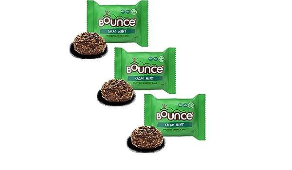 Bounce Bombones de Cacao & Menta de Energía Sin Gluten 42g Pack de 3: Amazon.es: Alimentación y bebidas