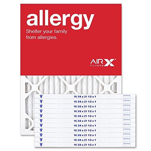 AirXフィルタアレルギー16.5X 21.5X 1エアフィルタMERV 11AC炉プリーツエアフィルタ交換用ボックスof 12, Made in the USA