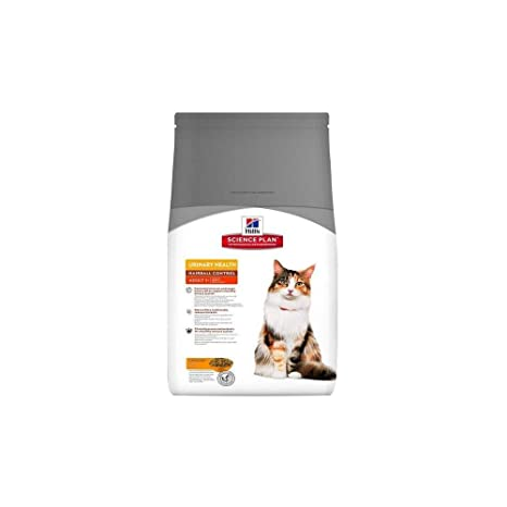 Hills - Pienso para Gatos Adultos Science Plan Urinary Health Hairball Control Pollo