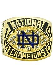 1988 Notre Dame Championship Ring Kustom Big Size 11,18k Gold Men Replica Ring Sport Jewelry