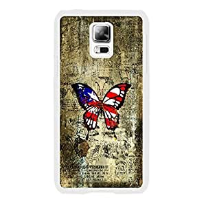 Customized Cute Butterfly Print Hard Plastic Shell Case for Cell Phone Samsung Galaxy S5 I9600 (retro whites1162)