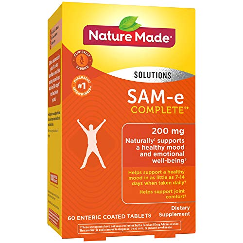 550 Mg 60 Tabs - Nature Made SAM-e Complete 200 mg. Tablet (Helps support Healthy Mood & Joint Comfort) Value Size 60 ct