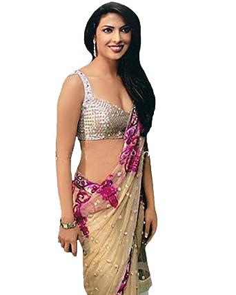 14a97118eabd Jay Sarees Exclusive Priyanka Chopra Bollywood Saree: Amazon.co.uk: Clothing