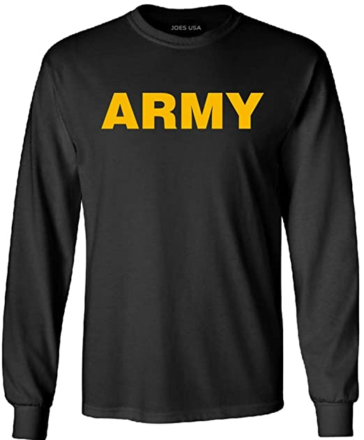 41f54206 Amazon.com: Joe's USA - Military T-Shirts - Gold Army Long Sleeve T-Shirts-L:  Clothing