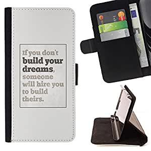 Dreams You Inspiring Poster Grey Inspiring - Painting Art Smile Face Style Design PU Leather Flip Stand Case Cover FOR HTC DESIRE 816 @ The Smurfs