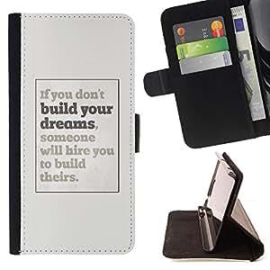 - Queen Pattern FOR Samsung Galaxy A3 /La identificaci????n del cr????dito ranuras para tarjetas tir????n de la caja Cartera de cuero cubie - dreams you inspiring poster grey insp