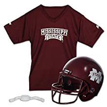 Franklin Sports NCAA Mississippi State Bulldogs Helmet and Jersey Set