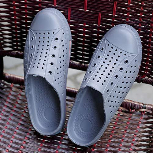 Breathable Chaussons Gris Antidérapant Trou Lumière Été Couple Chaussures Appartements Casual Ihaza Plage qwUgxCI