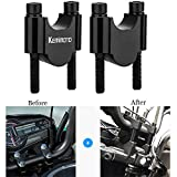 "KEMIMOTO 7/8"" Handlebar Risers 30mm Height for Kawasaki Honda Suzuki Yamaha Ducati ATV Dirt Bike Motorcycle Handlebar 1.2"" Rise (Black)"