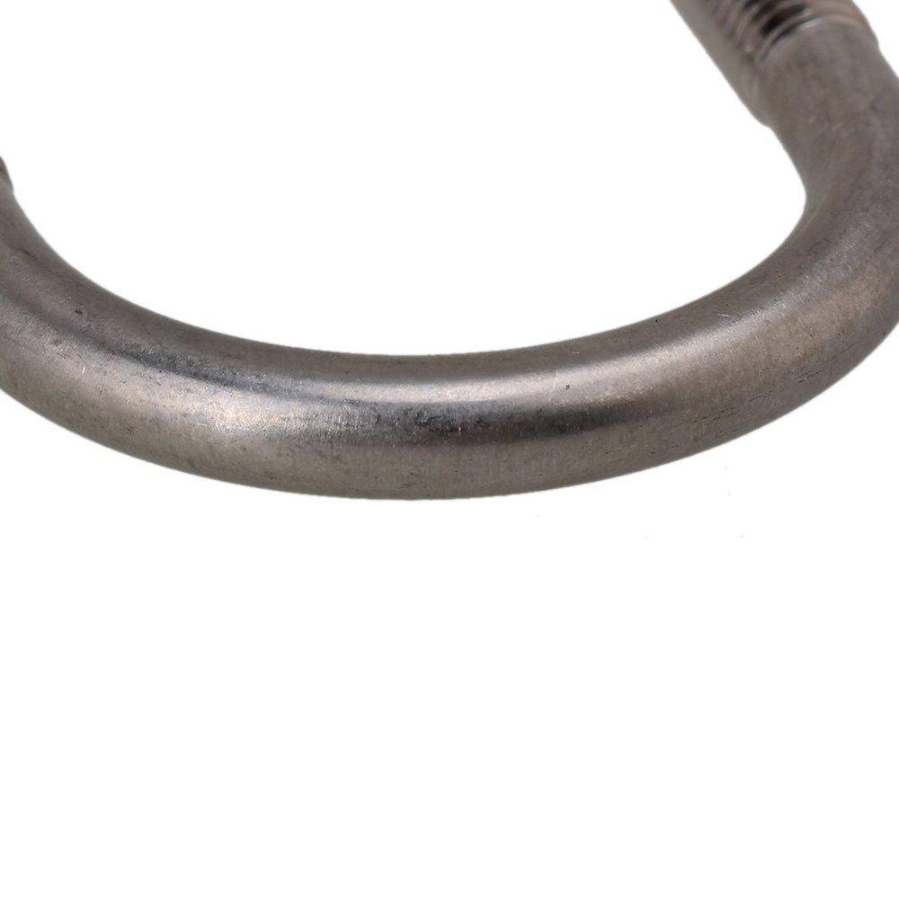 Cnbtr Argent Bride de fixation en acier inoxydable 304/Vis Selle /Écrous M6/x 27/mm pour Pipeline Lot de 5