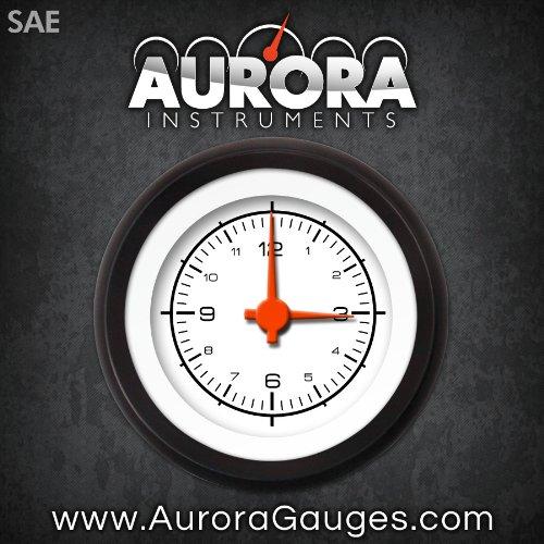 GAR228ZEXOACAH Competition White Clock Gauge Aurora Instruments
