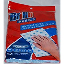 Brillo Basics Reusable Wipes - 12 Count