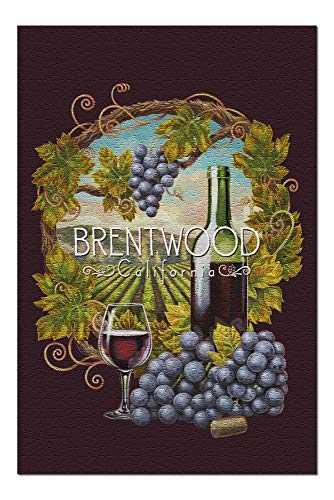 - Brentwood, California - Merlot Wine Scene - Contour 99527 (20x30 Premium 1000 Piece Jigsaw Puzzle, Made in USA!)