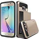 Galaxy S6 Edge Case, Verus [Damda Slide][Shine Gold] - [Wallet Card Slot][Heavy Duty Protection] For Samsung Galaxy S6 Edge