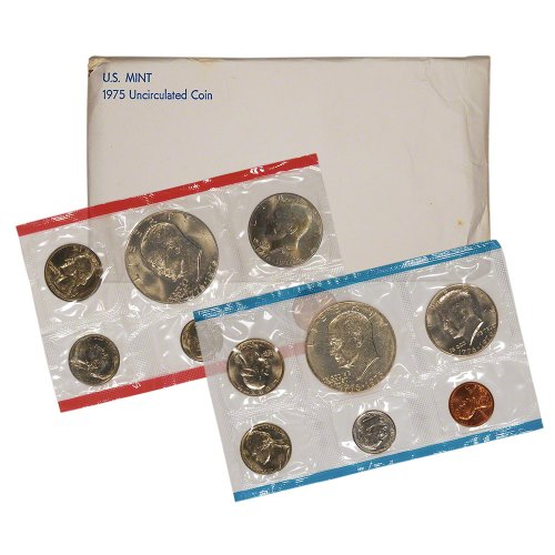 1975 Mint Set (1975 United States Mint Uncirculated Coin Set in Original Government Packaging)