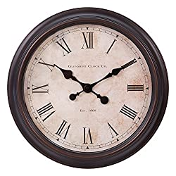Patton Wall Decor 18 Inch Antique Brushed Bronzed Finish Wall Clock